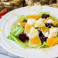 Салат из свеклы с апельсинами и сыром