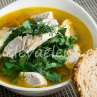 Простой суп с курицей и чечевицей.
