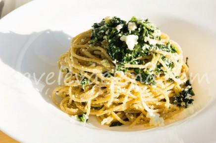 Паста с рикоттой и шпинатом