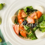 Салат с печеными баклажанами