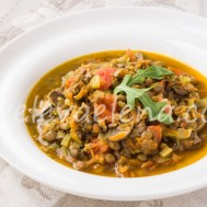 Чечевица с овощами и грибами по-итальянски