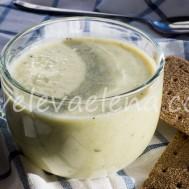 Суп пюре с куриной грудкой и зеленым горошком