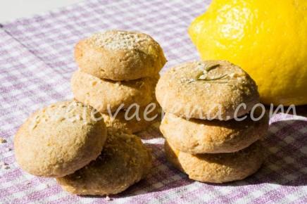 Простое лимонное печенье без масла