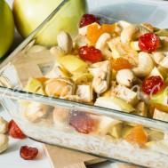 Запеченная каша с фруктами, сухофруктами и орехами