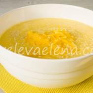 Тыквенный суп-пюре с молоком и рикоттой