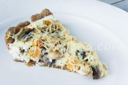Тарт с рикоттой, курицей и грибами