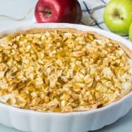 Тарт с яблоками и рикоттой на кокосовом молоке