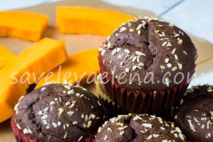 Тыквенные кексы с какао