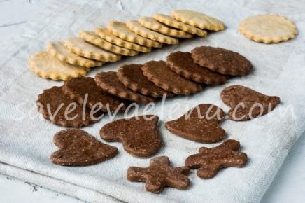 Шоколадное печенье из желтков