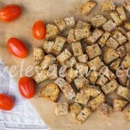 Сухарики из домашнего цельнозернового хлеба