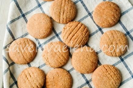 Имбирное печенье на кокосовом молоке (без какао)