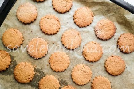 Арахисовое печенье на желтках