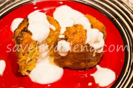 Низкокалорийные творожные кексы с морковью