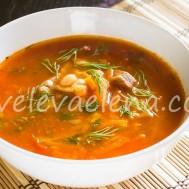 Суп из нута и фасоли с говядиной