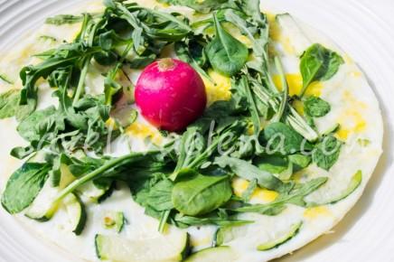 Омлет с цукини и зеленью