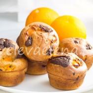 Кексы с апельсином и горьким шоколадом