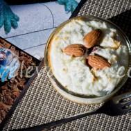 Кокосовый десерт из рикотты с орехами